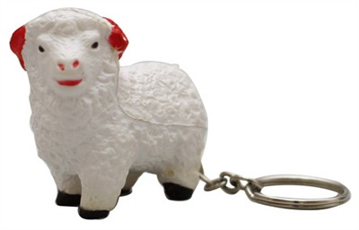 Sheep Stress Shape Keyring