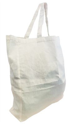 Short Handle Calico Bag With Gusset