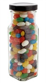 220gm Mini Jelly Beans Mixed Colour Tall Square Jar