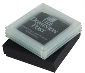 4 Piece Glass Coaster Set
