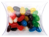 40gm Mini Jelly Beans Mixed Colours Clear Pillow Box
