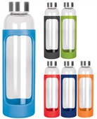 600ml Glass Bottle With Silicone Sleeve