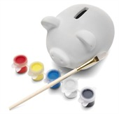 Colour In Piggy Bank