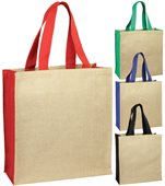 Colour Jute Shopping Bag