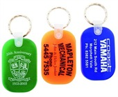 Coloured Oblong Rubber Keyring