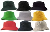 Contrast Trim Cotton Bucket Hat