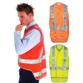 Day Night Cross Back Safety Vests With Tail
