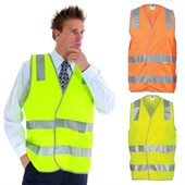 Day And Night Safety Vest with Reflective Tape