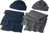 Fleece Cap and Scarf Set