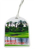 Full Colour Oval Top Golf Bag Tag