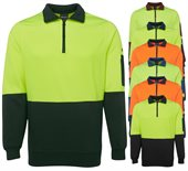 Hi Vis Half Zip Polar Fleece Top With Pen Pocket