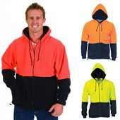 Hi Vis Two Tone Full Zip Polar Fleece Hoodie