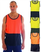 HiVIs  Cotton Back Two Tone Singlet