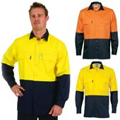 HiVis 3 Way Cool-Breeze Cotton Shirt Long Sleeve