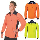 HiVis Cool Breathe Action Polo Shirt Long Sleeve
