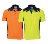 HiVis Cool Breathe Action Polo Shirt Short Sleeve
