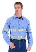 HiVis Cool Breeze Chambray Shirt Long Sleeve