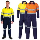 HiVis Cool Breeze Two Tone Light Weight Cotton Coverall With Reflective Tape