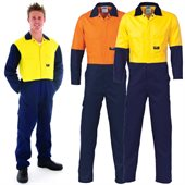 HiVis Cool Breeze Two Tone Light Weight Cotton Coverall
