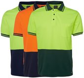 HiVis Cotton Back Polo Shirt Sleeve