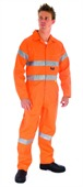 HiVis Cotton Coverall With Reflective Tape