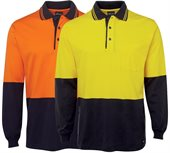 HiVis Cotton Polo Shirt Sleeve