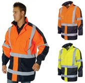 HiVis Cross Back 2 Tone Day Night Contrast Jacket