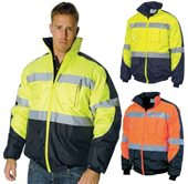 HiVis Day Night Contrast Panel Pilot Jacket