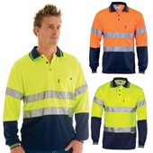 HiVis Day Night Cool Breathe Polo Shirt Long Sleeve