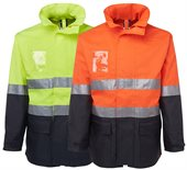 HiVis Day Night Long Line Jacket With Reflective Tape