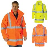 HiVis Day Night Rain Jacket With Reflective X Back