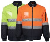 HiVis Flying Jacket With Reflective Tape