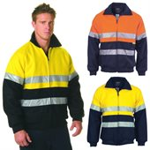 HiVis Two Tone Bluey Jacket With Reflective Tape