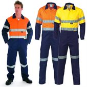 HiVis Two Tone Cotton Coverall With Reflective Tape