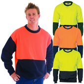 HiVis Two Tone Crew Neck Fleecy Sweat Shirt