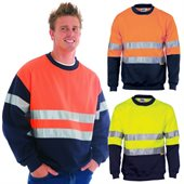 HiVis Two Tone Crew Neck Sweatshirt Reflective Tape