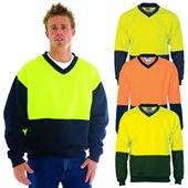 HiVis Two Tone Fleecy V Neck Sweat Shirt