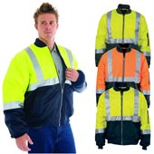 HiVis Two Tone Flying Jacket with Reflective Tape