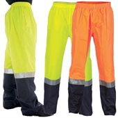 HiVis Two Tone Light Weight Rain Pant With Reflective Tape