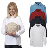 Kids Long Sleeve 210gsm Polo Shirt