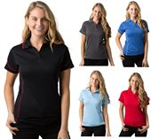Ladies Contrast Piping CoolDry Polo Shirt