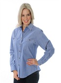 Ladies Cotton Chambray Long Sleeve