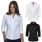 Ladies Fitted Shirt Three Quarter Sleeve