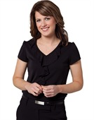 Ladies Ruffle Front Blouse