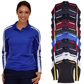 Ladies TrueDry Piping Polo Long Sleeves