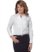 Ladies Tuck Front Stretch Shirt Long Sleeves