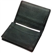 Leather Gusset Card Holder