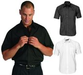 Mens Poly Cotton Business Shirt Short Sleeve