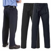 Mens Polyester Viscose Pleats Front Trousers