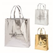 Metallic Shopper Tote